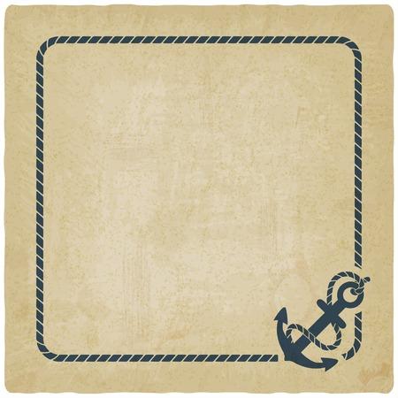 marine background with anchor Illustration