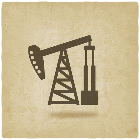 derrick: oil pump symbol Illustration