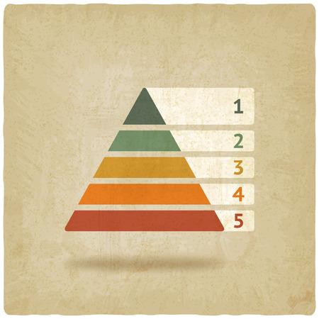 piramide humana: Maslow símbolo de la pirámide de color