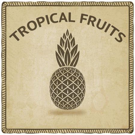 pineapple: pineapple tropical fruit symbol