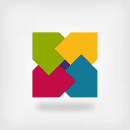 square logo: colored square logo symbol