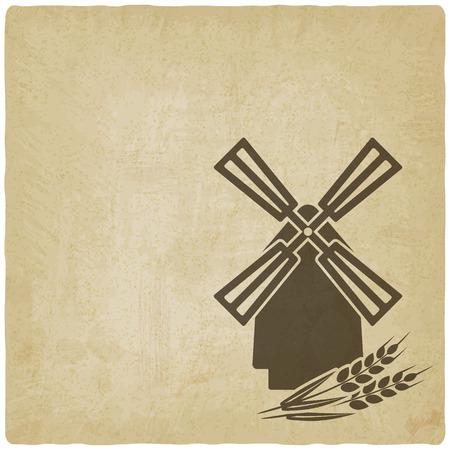 mills: mill old background. vector illustration -  Illustration