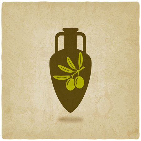 amphora: amphora with olive oil Illustration