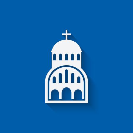 Greek Church symbol Illustration