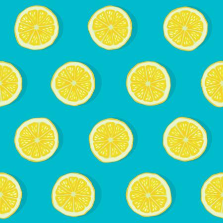 レモンのシームレスなパターン  イラスト・ベクター素材