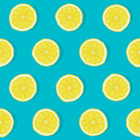 lemon slices: lemon seamless pattern Illustration