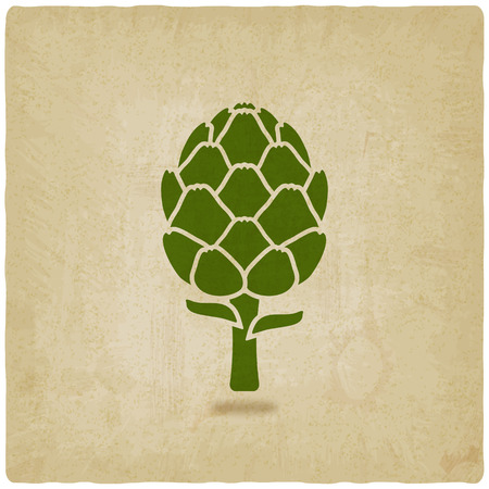 artichoke: artichoke symbol on old background
