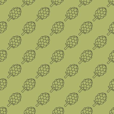 artichoke: artichoke green seamless pattern - vector illustration.