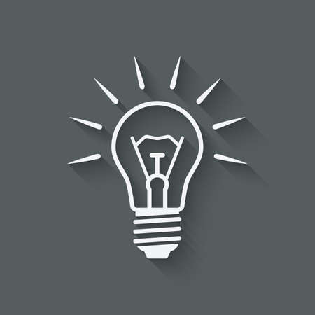 lightbulb idea: lightbulb idea symbol - vector illustration.  Illustration