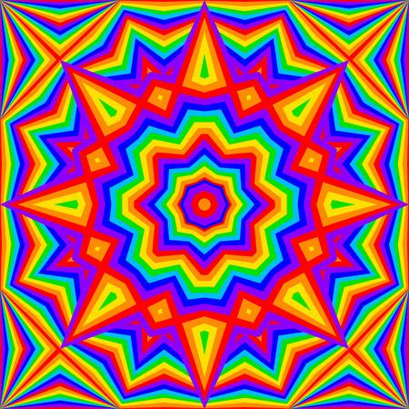 background kaleidoscope: kaleidoscope bright rainbow background - vector illustration. eps 8