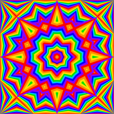 kaleidoscope bright rainbow background - vector illustration. eps 8