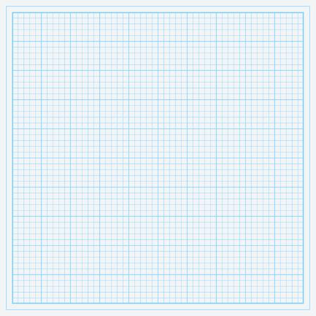 Blue graph paper vector illustration. Stock Illustratie