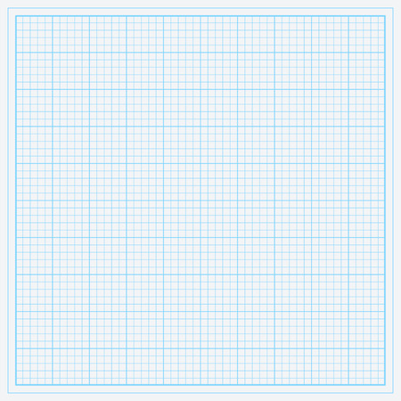 Blue graph paper vector illustration. Illustration