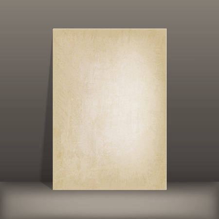 photo album page: grunge paper card old background vector illustration.   Illustration
