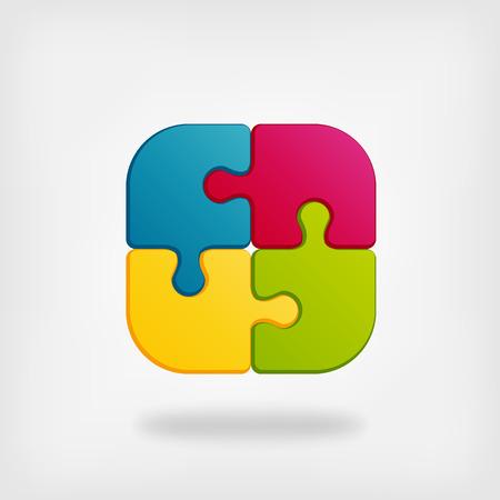 idea icon: color puzzle creative symbol vector illustration.