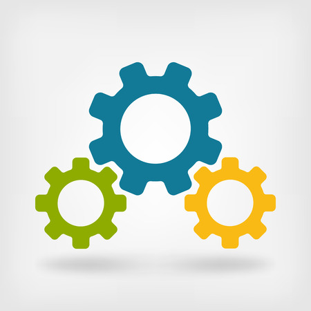 gears: Desarrollo prepara símbolo - ilustración vectorial. eps 10