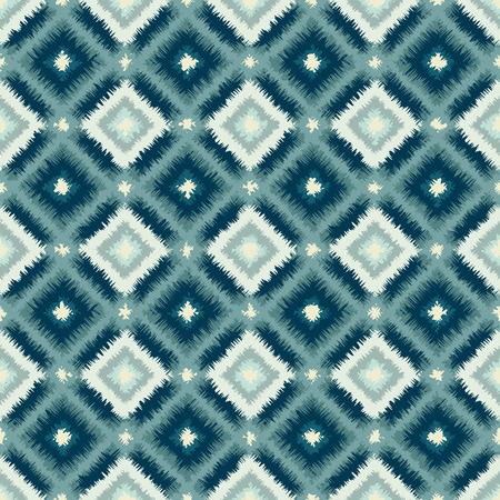 rhombus: ethnic rhombus tribal seamless pattern - vector illustration.
