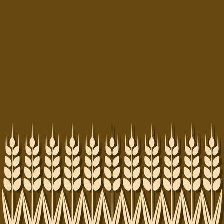 ripe wheat ears background - vector illustration.