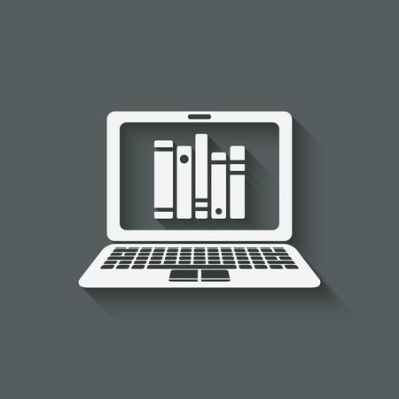 buchhandlung: distanzieren Online-Bibliothek, Arbeitszimmer oder im Buchhandel Konzept. Vektor-Illustration Illustration