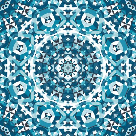 background kaleidoscope: blue crystal kaleidoscope pattern. vector illustration