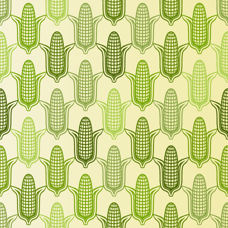 corn seamless pattern - vector illustration. eps 8 Illustration