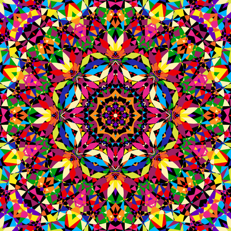 bright seamless kaleidoscope pattern - vector illustration. eps 8