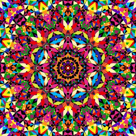 bright seamless kaleidoscope pattern - vector illustration. eps 8