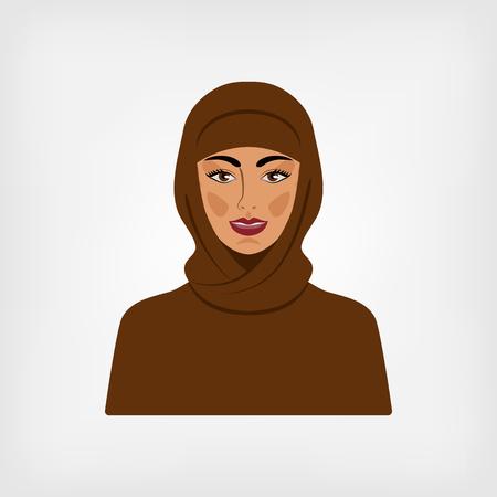 muslim fashion: Arab woman in traditional clothes. vector illustration Illustration