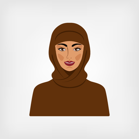 Arab woman in traditional clothes. vector illustration Illustration