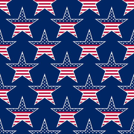 patriotic background: American stars seamless pattern. vector illustration - eps 8