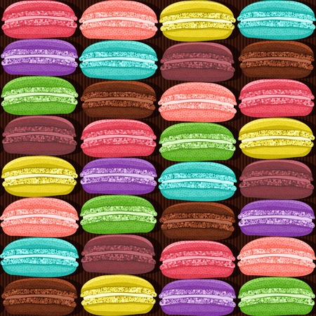 macaroon: macaroon colorful seamless pattern. vector illustration   Illustration