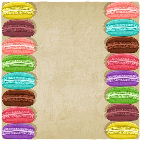 macaroon: macaroon old background. vector illustration  Illustration