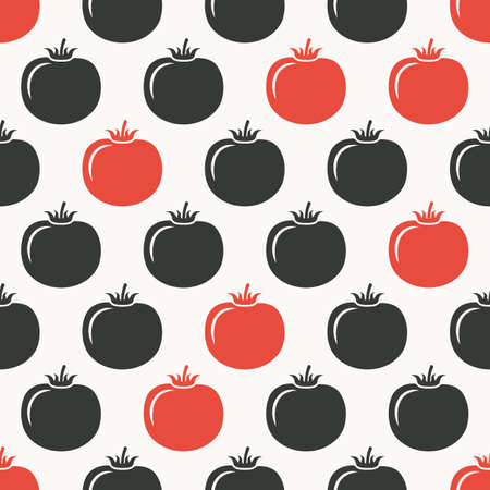 tomatoes: tomatoes seamless pattern. vector illustration