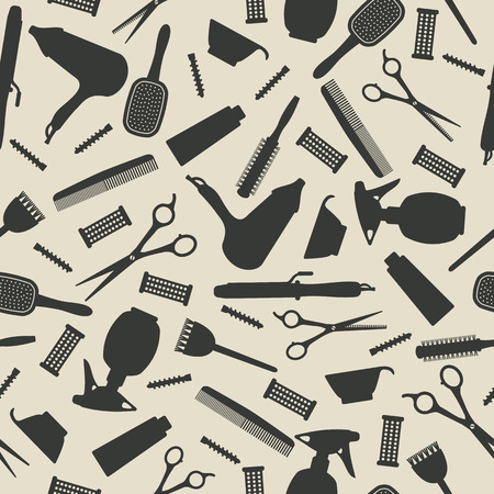accessory: hairdresser seamless background.  Illustration