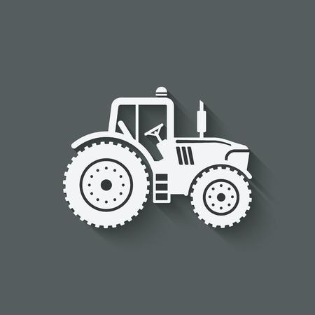 tractor silhouette icon.  일러스트