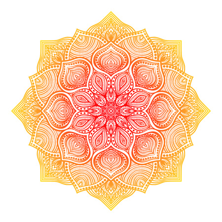 rangoli: floral round ornament - vector illustration. eps 8