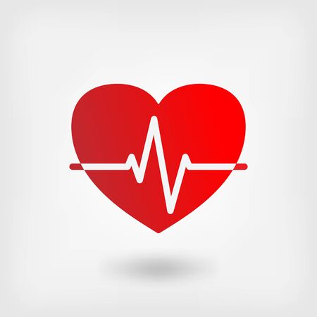 cardiogram: heart cardiogram symbol - vector illustration. eps 10 Illustration