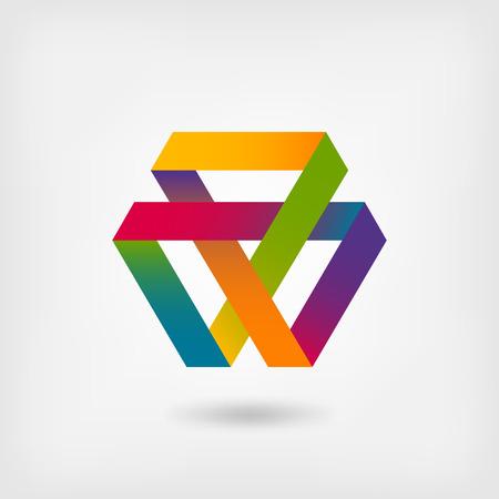 Mobius strip multi-color symbol - vector illustration. eps 10 向量圖像