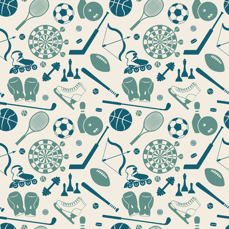 site backgrounds: sport seamless pattern. vector illustration - eps 8