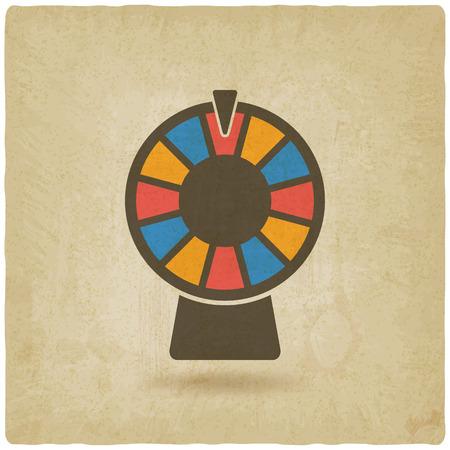 rueda de la fortuna: rueda de la fortuna de fondo antiguo. ilustración vectorial - EPS 10 Vectores