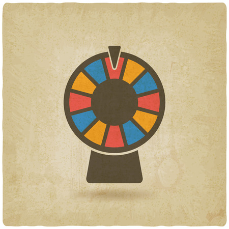 fortune wheel: wheel of fortune old background. vector illustration - eps 10