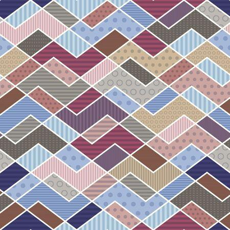 유행: 트렌드 색상에 기하학적 인 패치 워크 패턴 - 벡터 일러스트 레이 션입니다. (10) 주당 순이익