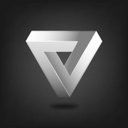 Penrose triangle abstract symbol - vector illustration. eps 10