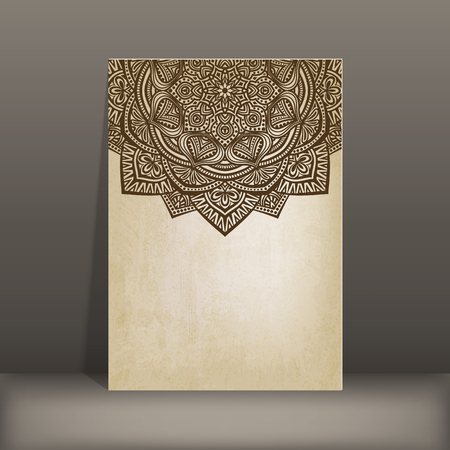 circular: old paper card with circular pattern