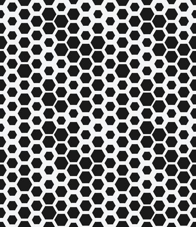 hexagon monochrome seamless geometrical pattern Illustration
