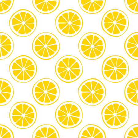 lemon seamless pattern  white background