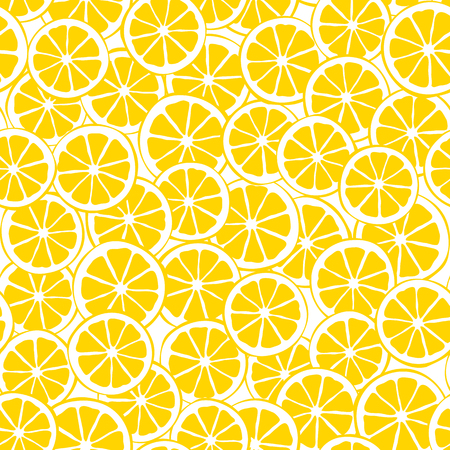 lemon slices: lemon slices seamless pattern Illustration