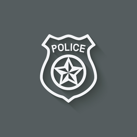 police badge symbol - vector illustration.