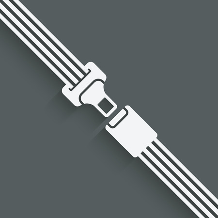 seatbelt: safety belt symbol - vector illustration.