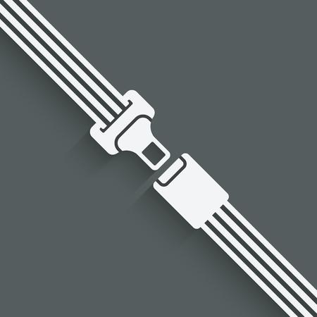 seatbelt: safety belt symbol - vector illustration.